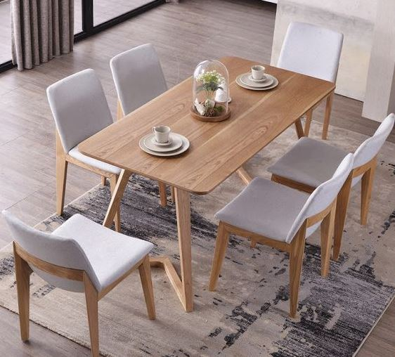 Bàn ghế gỗ cho phòng ăn trẻ trung năng động
