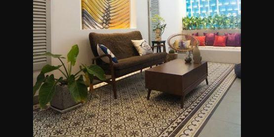 Sofa gỗ đơn giản mà tinh tế