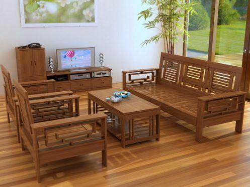 Bộ bàn ghế gỗ đơn giản những đầy tinh tế