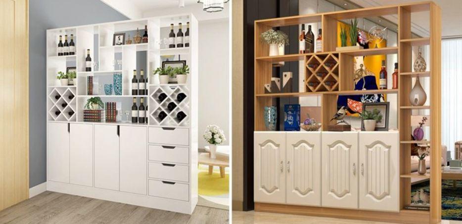 Tủ gỗ âm tường đựng rượu giá rẻ