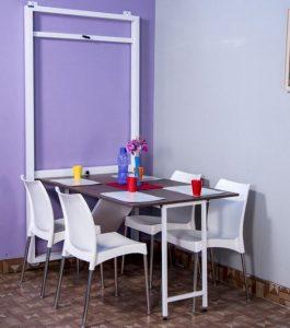 bàn ăn thông minh gắn tường