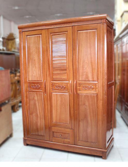 tủ quần áo gỗ tự nhiên rof
