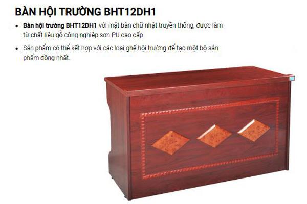 Bàn hội trường gỗ công nghiệp cao cấp BHT12DH1