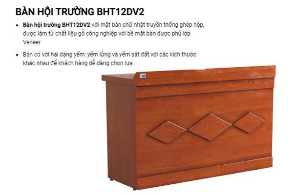 Bàn gỗ công nghiệp dành cho hội trường BHT12DV2