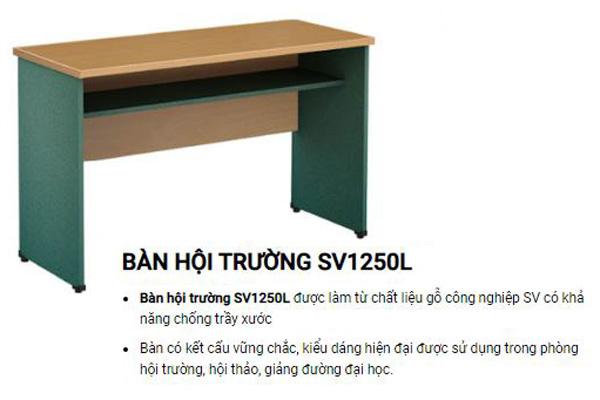 Bàn hội trường gỗ công nghiệp SV1250L