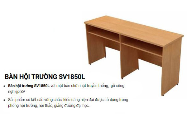 Bàn hội trường dài gỗ công nghiệp SV1850L