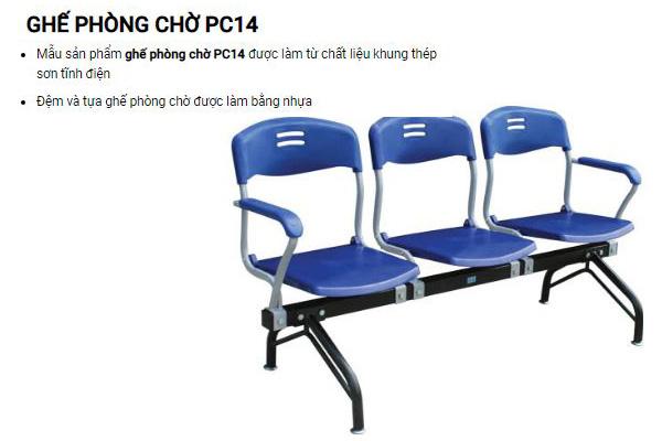 Ghế chờ tay vịn giá rẻ PC14