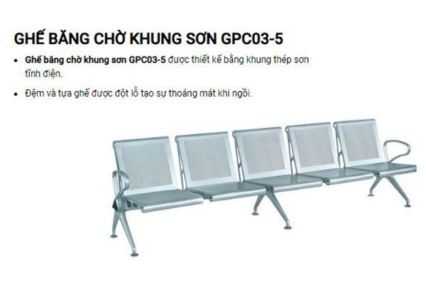 Ghế chờ khung sơn cao cấp GPC03-5